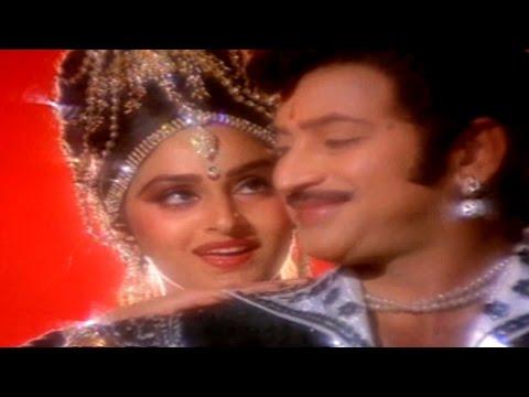 Akashamlo Okatara Full Video Song || Simhasanam Movie || Krishna, Jaya Pradha, Mandakini