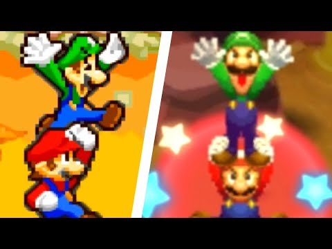 Mario & Luigi: Superstar Saga 3DS - All Bros. Attacks Comparison (3DS vs Original)