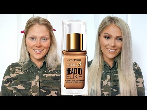 NEW COVERGIRL VITALIST HEALTHY ELIXIR FOUNDATION REVIEW + DEMO!