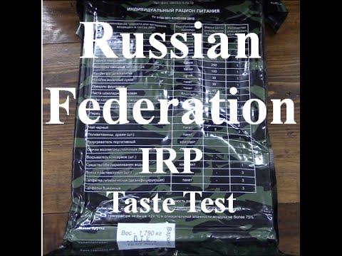MRE Review: Russian Federation Individual Food Ration -IRP ~Taste Test~