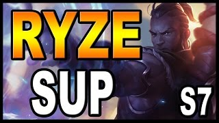 👍 RYZE SUPPORT S7 | (GUÍA) - Maestrias, Runas y Objetos (Build) | Vídeo Gameplay | Parche 7.4