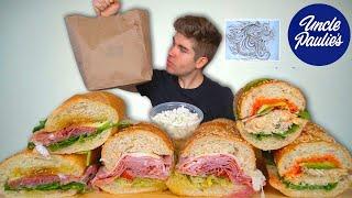 Uncle Paulie's BIG Sub Sandwiches (Mukbang)