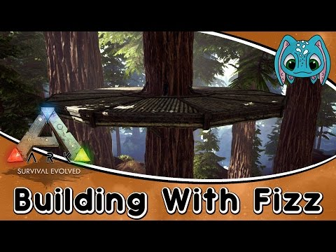 ARK:Survival Evolved Building w/ Fizz :: How to Use Wooden Tree Platforms