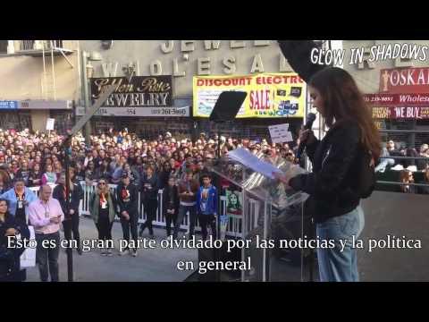 (Subtitulado) Rowan Blanchard Speaks at Women's March LA.