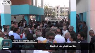 مصر العربية | جثمان حسن الشاذلي يغادر نادي الترسانة