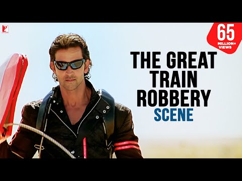 Scene - Dhoom:2 | The Great Train Robbery | Hrithik Roshan