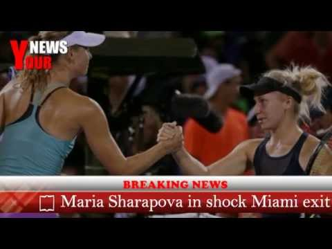 Maria Sharapova in shock Miami exit to wildcard Daria Gavrilova