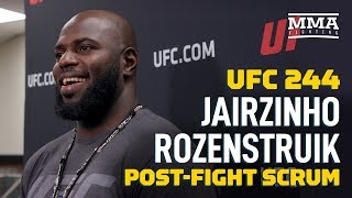 UFC 244: Jairzinho Rozenstruik Open To Quick Turnaround Fight Vs. Alistair Overeem - MMA Fighting