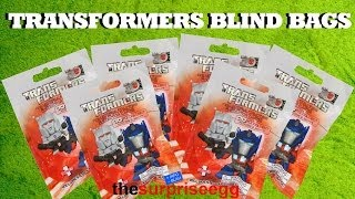 6 HASBRO Transformers blind bags mini figures series 1 unboxing