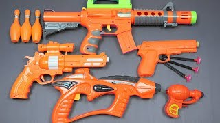 Colors for Children to Learn with Toy Guns Toys for Kids - Johny Johny Yes Papa Nursery Rhymes Songs
