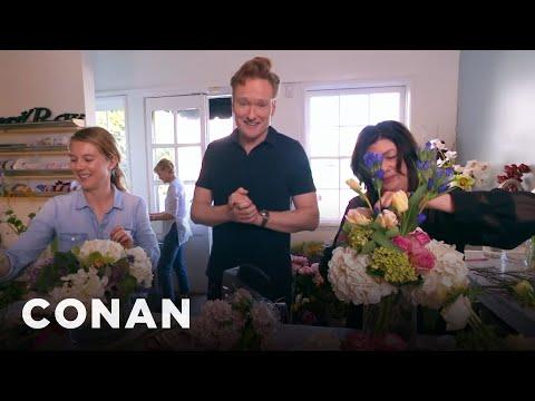 Conan Delivers Valentine's Day Bouquets