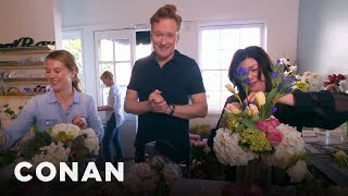 Conan Delivers Valentine's Day Bouquets