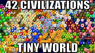 All 42 Nations Battle in a Tiny World! (Civ 6 Gathering Storm)