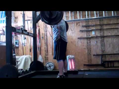 SSB pause squats 355x5 2nd set