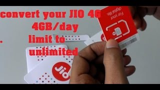 Increase your Reliance JIO 4GB limit a day into unlimited