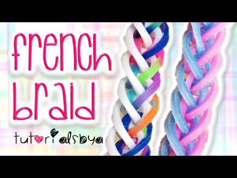 NEW French Braid Rainbow Loom Monster Tail Bracelet Tutorial   How To