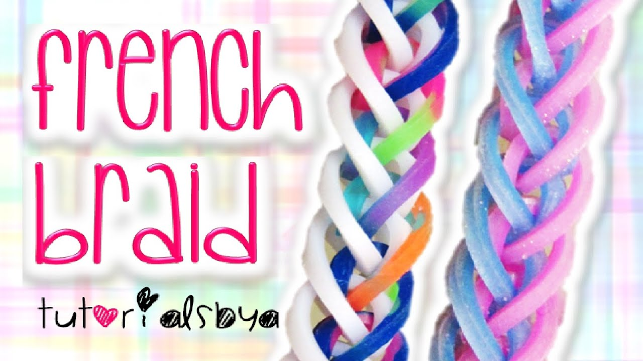 New French Braid Rainbow Loom Monster Tail Bracelet
