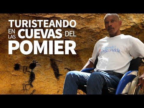Turisteando en las Cuevas del Pomier.