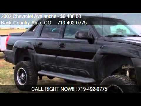 2002 chevrolet avalanche 2500 4wd for sale in falcon co. Black Bedroom Furniture Sets. Home Design Ideas