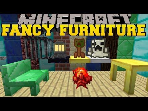 Minecraft: FANCY FURNITURE (TABLES, CHAIRS, CHIMNEYS, & COOL BLOCKS!) Mod Showcase