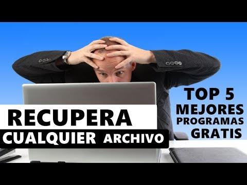 RECUPERAR ARCHIVOS BORRADOS - 5 MEJORES PROGRAMAS DE RECUPERACIÓN [SD. USB. DISCO DURO. FOTOS. TODO]