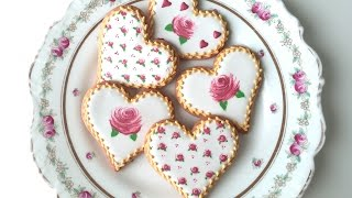 How To Decorate Rose Cookies For Valentine