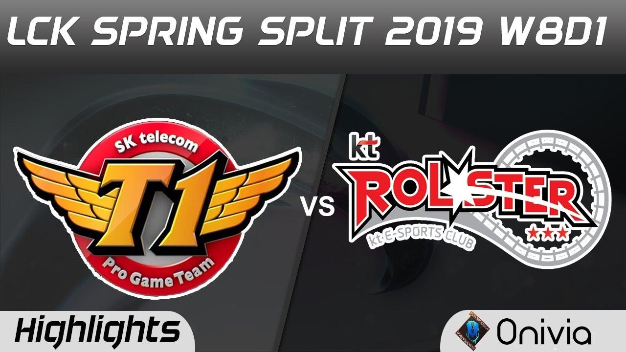 SKT vs KT Highlights Game 2 LCK Spring 2019 W8D1 SK Telecom T1 vs KT Rolster by Onivia