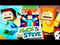 The Minecraft Life Of Alex & Steve | MOVIE 2 | Minecraft Animation