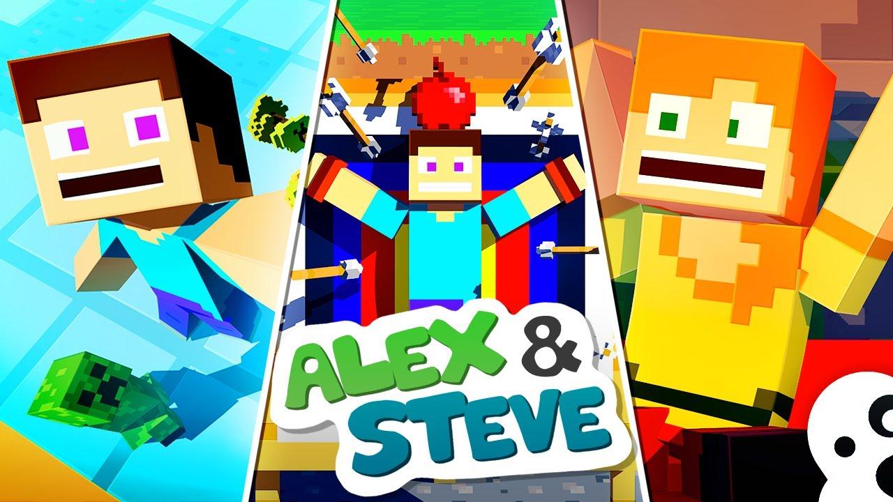 The Minecraft Life of Alex & Steve   MOVIE 2   Minecraft Animation