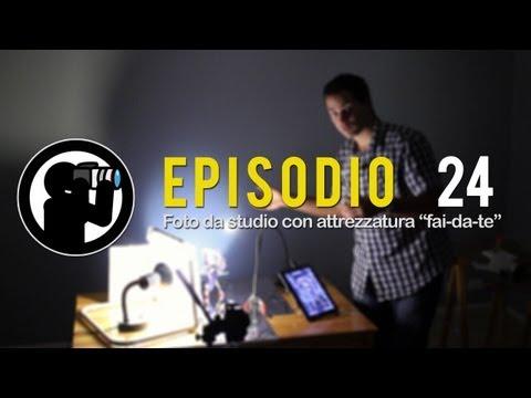 """Corso di Fotografia – 24 – Foto da studio con attrezzatura """"fai da te"""""""