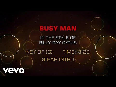 Billy Ray Cyrus - Busy Man (Karaoke)