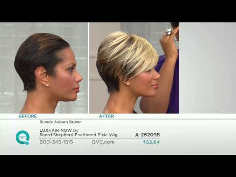 LUXHAIR NOW by Sherri Shepherd Feathered Pixie Wig with Jacque Gonzales