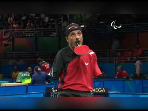 Ibrahim Hamadtou, El Atleta Paralímpico Que Juega Tenis De Mesa Sin Las Manos