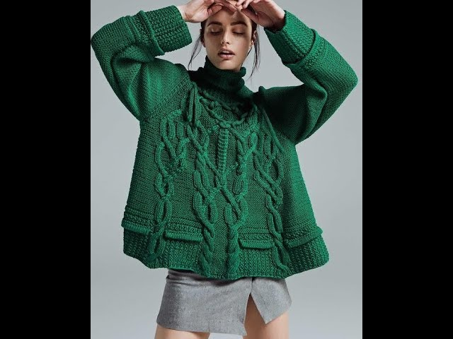 Вязание Спицами - Модный Пуловер - 2019 / Knitting Trendy Pullover