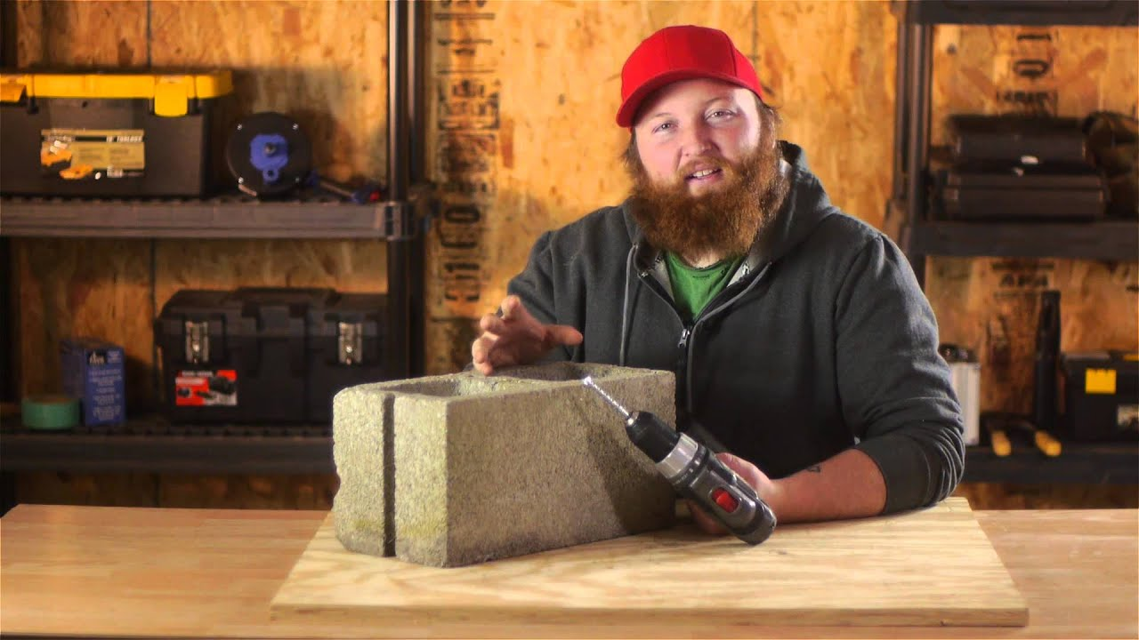 How To Drill Through Cinder Blocks Nails Screws Amp Wall