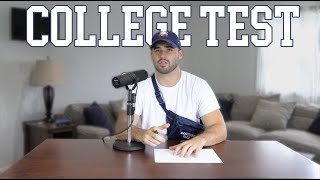 Grown Men Take A College Test