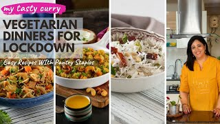 Lockdown Recipes : 7 One Pot Easy Indian Vegetarian Dinner Recipes | Weekly Indian Dinner Plan