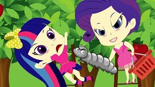 Equestria Girls Princess Fall Apple Trees Picking Apples The Outdoors 🌈 Finger Family Song Rhymes