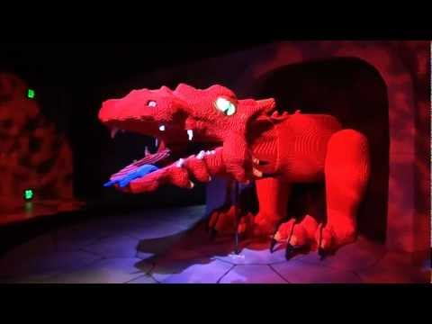 The Dragon Roller Coaster POV Legoland Florida Dark Ride Family Rollercoaster On-Ride