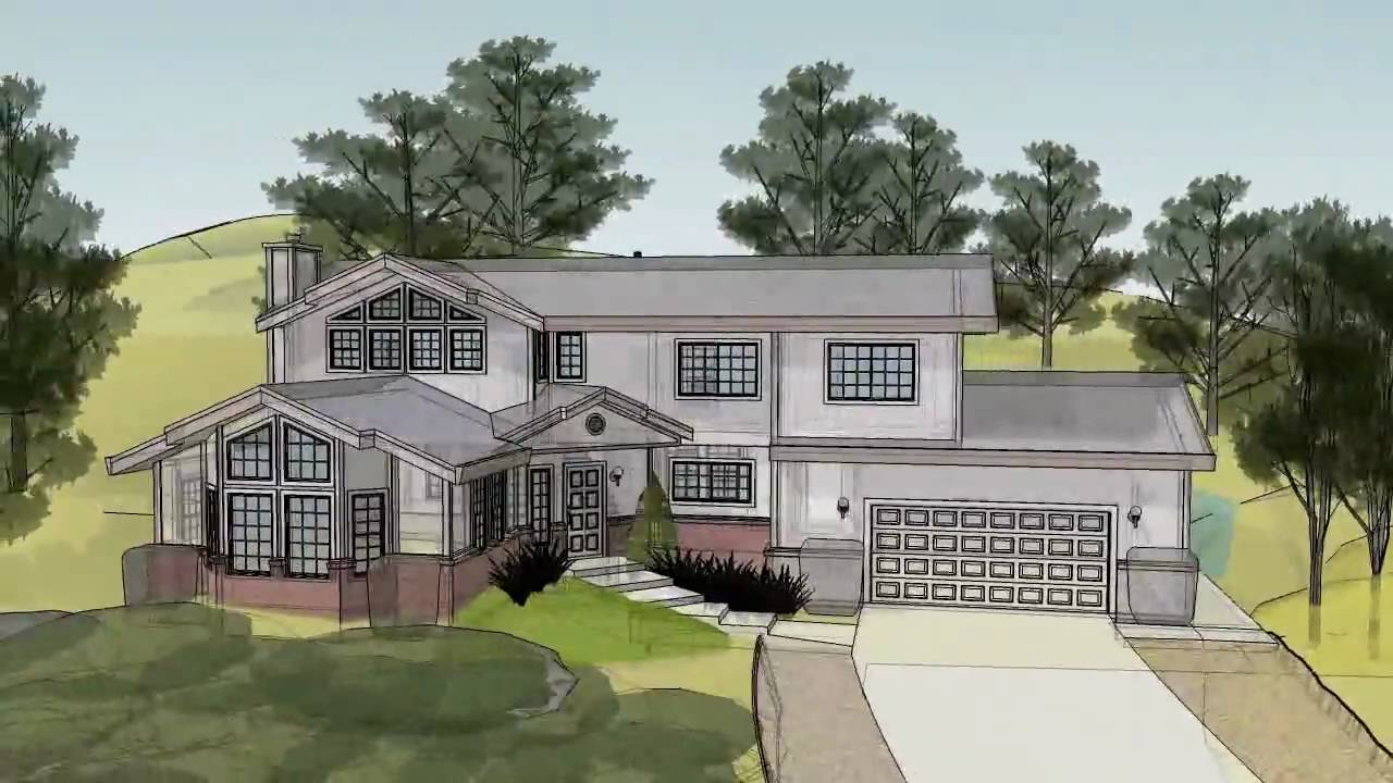Sketchup 3d house animation in hd youtube for Estate home designs