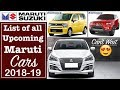 Latest Top Upcoming Maruti Suzuki Cars In India 2018 2019 With Price And Launch Date