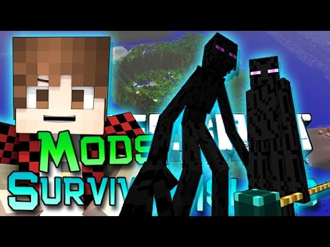 Minecraft: Survival Island Mods Ep. 4 - Pyramid Quest! Ender Lord Boss!
