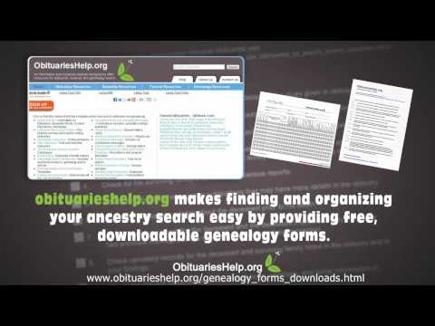Genealogy Forms - Download over 40 different forms and templates for free