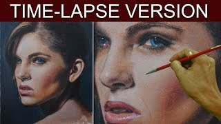 Time-Lapse Version | Beautiful Lady | Acrylic Portrait Painting by JM Lisondra