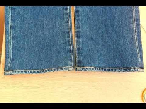 Как укоротить джинсы с сохранением фирменной строчки