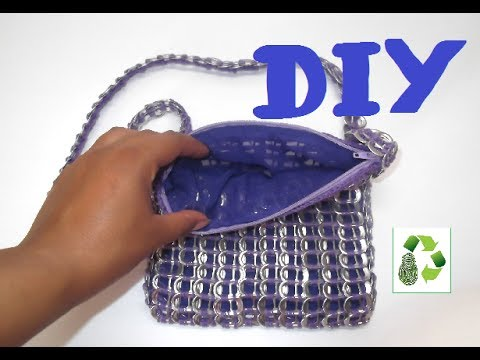5. DIY RECYCLED CAN TABS INTO PURSE (BOLSO, MONEDERO, NECESER) RECICLAJE DE ANILLAS