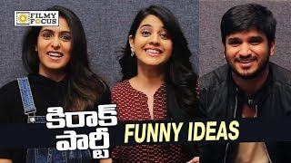 Kirrak Party Movie Team Funny Ideas for College Students || Nikhil, Samyuktha, Simran