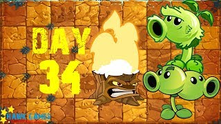 Plants vs Zombies 2 - Jurassic Marsh - Day 34 [Locked and Loaded IV] No Premium