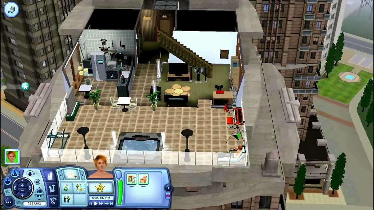 The Sims 3 Late Night My New High Rise Apartment Penthouse Suite Youtube