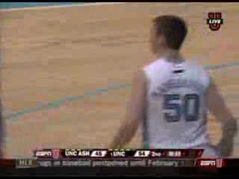 Tyler Hansbrough dunks on 7-9 Kenny George Video